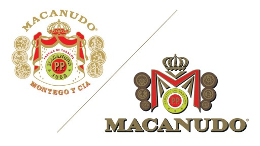 Comparison of old and new Macanudo logo