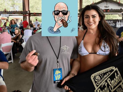 The Great Smoke-Smokey Buys a Shirt (Caricature)