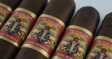 The Wise Man Maduro Cigar Band Closeup