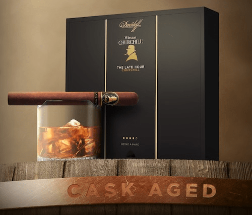Winston Churchill - The Late Hour Box, Cigar, and Glass